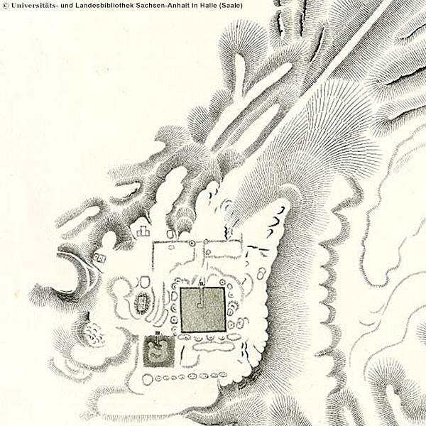 Lepsius-Karte von Abu Roasch, Auzug mit Radjedef-Pyramide