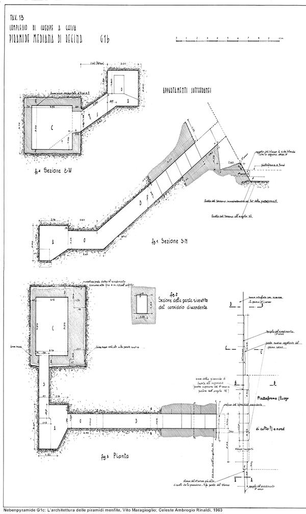 Nebenpyramide G1b innen: L'architettura delle piramidi menfite, Vito Maragioglio; Celeste Ambrogio Rinaldi, 1963