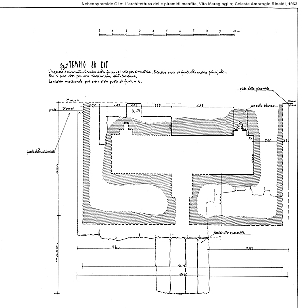 Nebenpyramide G1b, Totentempel: L'architettura delle piramidi menfite, Vito Maragioglio; Celeste Ambrogio Rinaldi, 1963