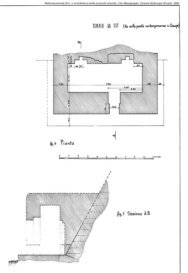 Nebenpyramide G1c außen: L'architettura delle piramidi menfite, Vito Maragioglio; Celeste Ambrogio Rinaldi, 1963