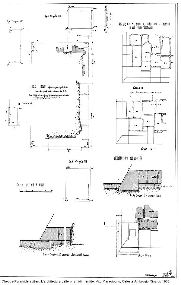 Cheops-Pyramide, Ecken: L'architettura delle piramidi menfite, Vito Maragioglio; Celeste Ambrogio Rinaldi, 1963