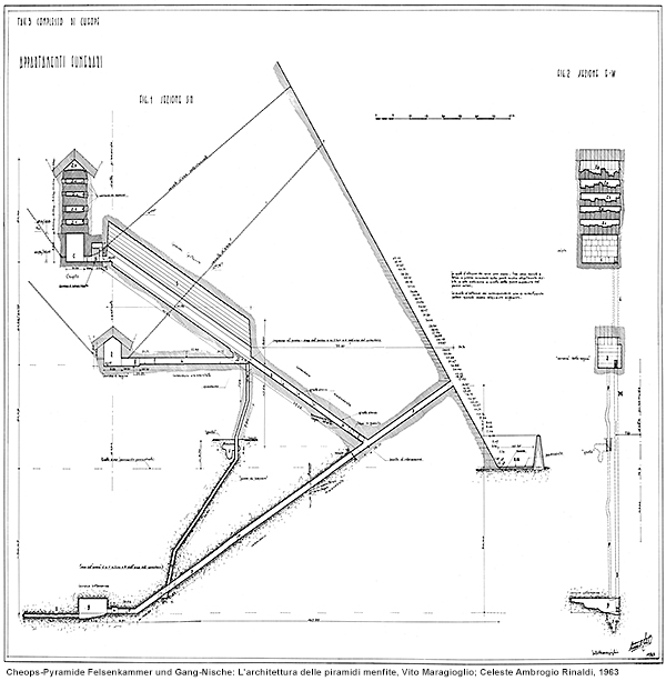 Cheops-Pyramide, Substruktur: L'architettura delle piramidi menfite, Vito Maragioglio; Celeste Ambrogio Rinaldi, 1963