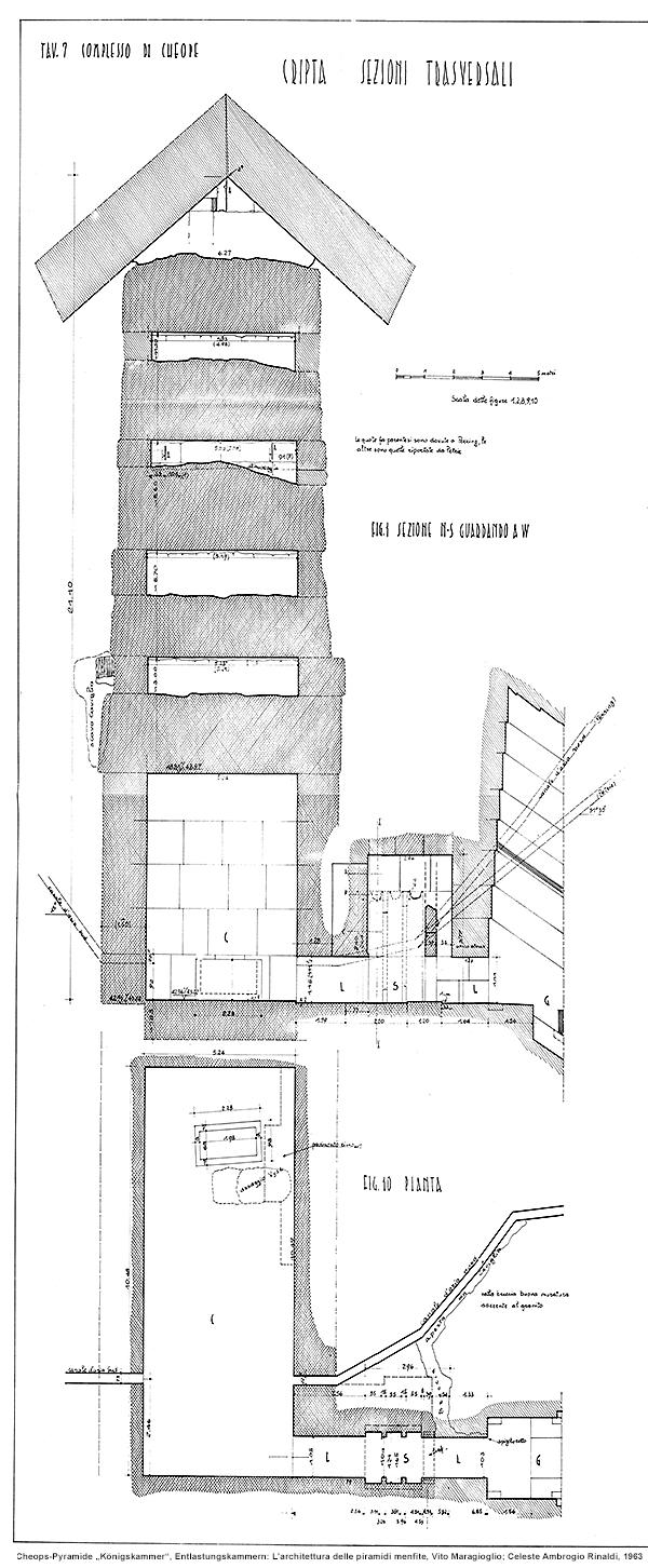 Cheops-Pyramide, Königskammer: L'architettura delle piramidi menfite, Vito Maragioglio; Celeste Ambrogio Rinaldi, 1963
