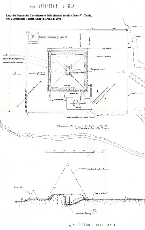 Radjedef-Pyramide: L'architettura delle piramidi menfite, Parte V — Tavole, Vito Maragioglio; Celeste Ambrogio Rinaldi, 1963