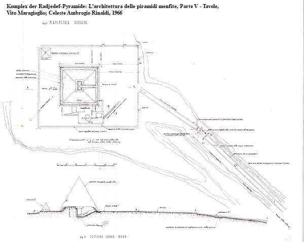 Komplex der Radjedef-Pyramide in Abu Roasch: L'architettura delle piramidi menfite, Parte V — Tavole, Vito Maragioglio; Celeste Ambrogio Rinaldi, 1966