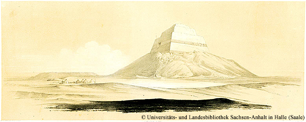 Nordwestecke der Medum-Pyramide