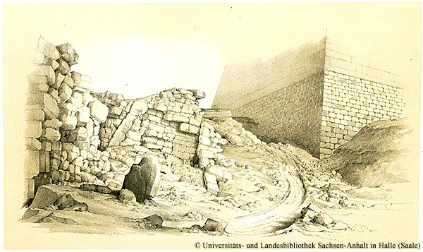 Südwestecke der Medum-Pyramide
