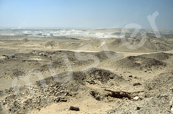 Abu Roasch / Pyramidengebiet: Blickrichtung Südwesten, Bild-Nr. Grßansicht: 10a/45