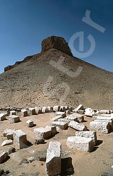 Amenemhat III.-Pyramide (Schwarze Pyramide): Ecke, Bild-Nr. Grßansicht: 360a/13