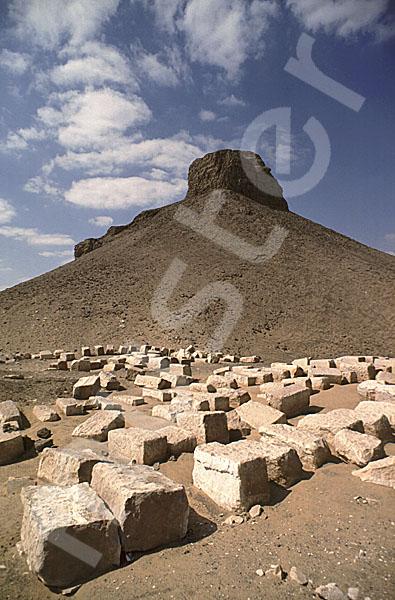 Amenemhat III.-Pyramide (Schwarze Pyramide): Ecke, Bild-Nr. Grßansicht: 360a/17