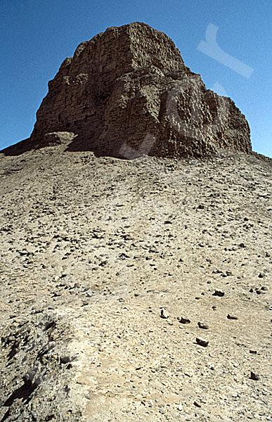 Amenemhat III.-Pyramide (Schwarze Pyramide): Ecke, Bild-Nr. Grßansicht: 360a/2