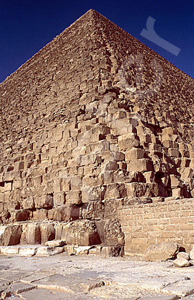Cheops-Pyramide: Ecke, Bild-Nr. Grßansicht: 20a/10