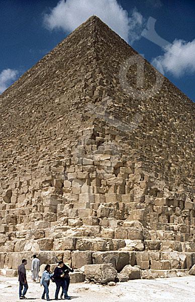Cheops-Pyramide: Ecke, Bild-Nr. Grßansicht: 20a/13