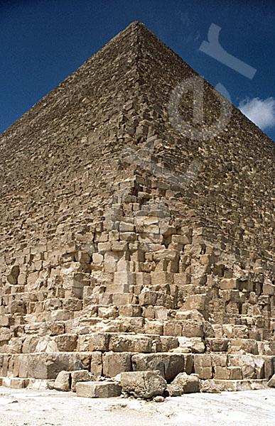 Cheops-Pyramide: Ecke, Bild-Nr. Grßansicht: 20a/14