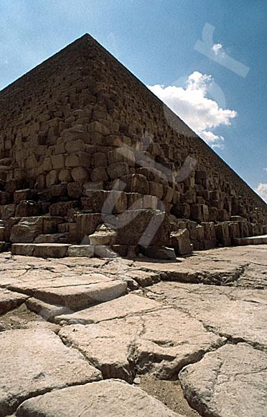 Cheops-Pyramide: Ecke, Bild-Nr. Grßansicht: 20a/2