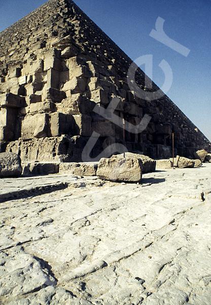 Cheops-Pyramide: Ecke, Bild-Nr. Grßansicht: 23b/4