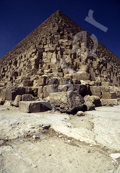 Cheops-Pyramide: Ecke, Bild-Nr. Grßansicht: 23b/5