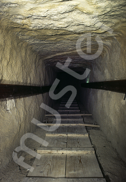 Cheops-Pyramide: Gang, Bild-Nr. Grßansicht: 26b/34