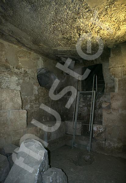 Cheops-Pyramide: Haupt- / Grabkammer, Bild-Nr. Grßansicht: 26a/26