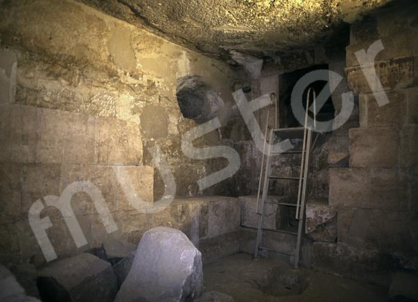 Cheops-Pyramide: Haupt- / Grabkammer, Bild-Nr. Grßansicht: 26a/28