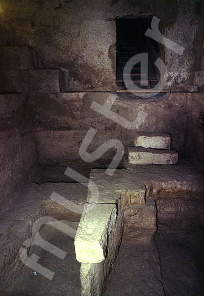 Cheops-Pyramide: Haupt- / Grabkammer, Bild-Nr. Grßansicht: 27a/2