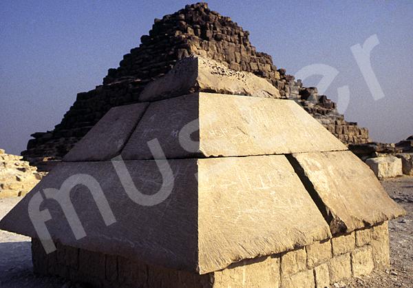 Cheops-Pyramide: Spitze / Pyramidion, Bild-Nr. Grßansicht: 23b/24