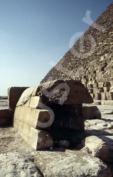 Cheops-Pyramide: Umfassungs- / Temenosmauer, Bild-Nr. Grßansicht: 23a/4