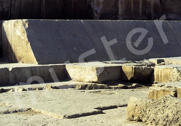 Cheops-Pyramide: Umfassungs- / Temenosmauer, Bild-Nr. Grßansicht: 23b/12