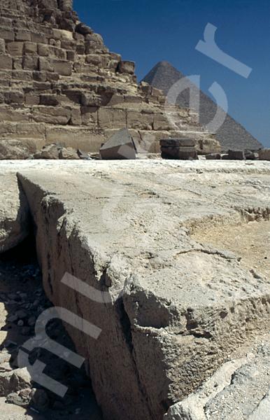 Chephren-Pyramide: Ecke, Bild-Nr. Grßansicht: 30a/23