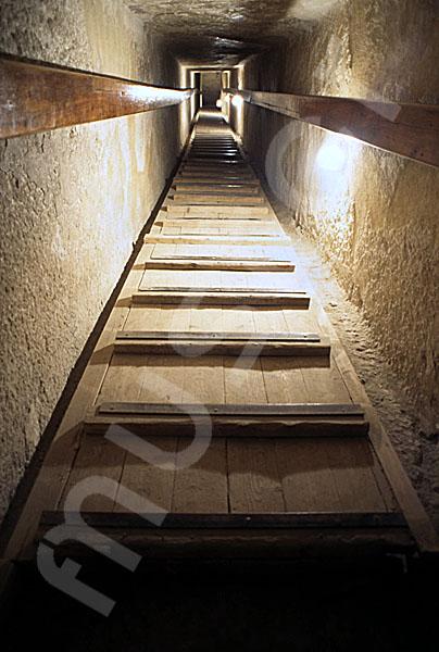 Chephren-Pyramide: Gang, Bild-Nr. Grßansicht: 35a/12