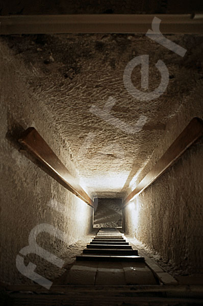 Chephren-Pyramide: Gang, Bild-Nr. Grßansicht: 35a/8
