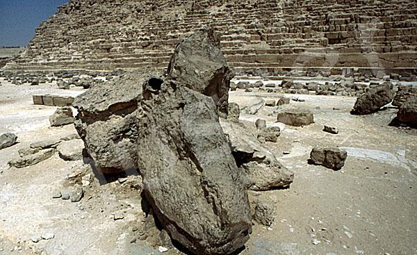 Chephren-Pyramide: Steinfragment, Bild-Nr. Grßansicht: 31a/21