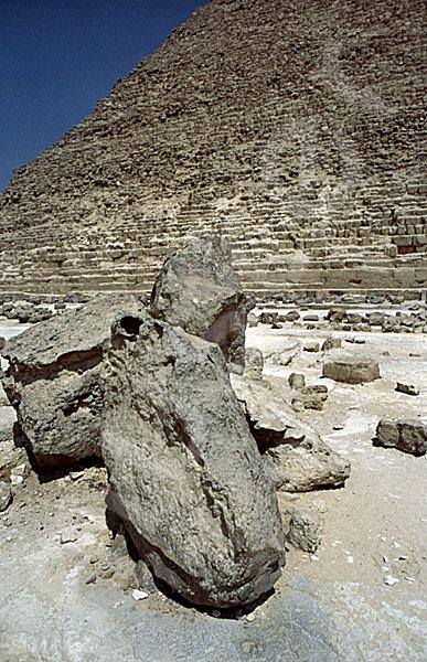 Chephren-Pyramide: Steinfragment, Bild-Nr. Grßansicht: 31a/22
