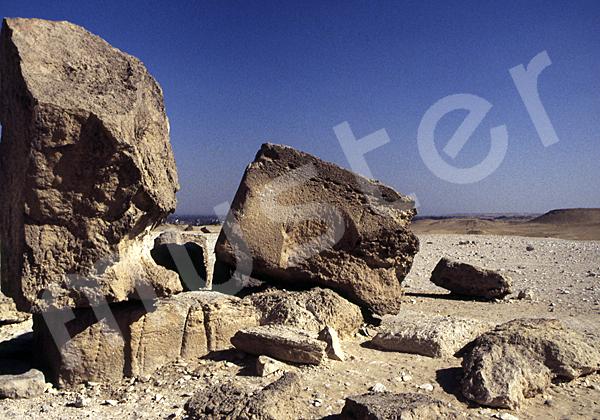 Chephren-Pyramide: Steinfragment, Bild-Nr. Grßansicht: 32a/9