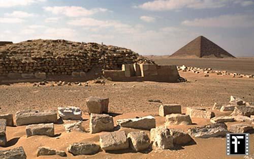 Dahschur / Pyramidengebiet: Blickrichtung Nordwesten, Bild-Nr. Grßansicht: 520a/2