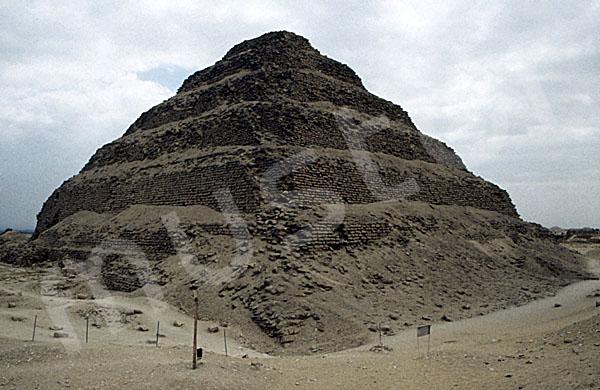 Djoser-Pyramide: Ecke, Bild-Nr. Grßansicht: 200b/8