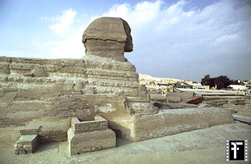 Große Sphinx von Gizeh: Statue, Bild-Nr. Grßansicht: 560a/8