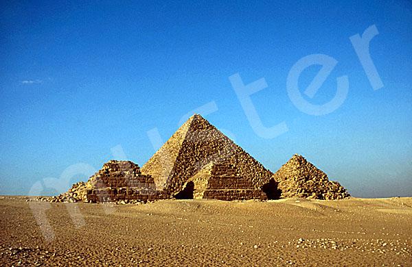 Mykerinos-Pyramide: Blickrichtung Nordnordosten, Bild-Nr. Grßansicht: 41a/18