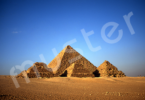 Mykerinos-Pyramide: Blickrichtung Nordnordosten, Bild-Nr. Grßansicht: 41a/42