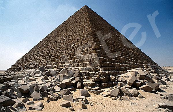 Mykerinos-Pyramide: Ecke, Bild-Nr. Grßansicht: 40a/1