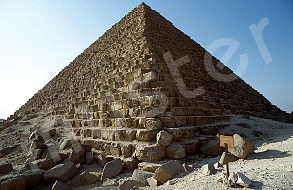 Mykerinos-Pyramide: Ecke, Bild-Nr. Grßansicht: 40a/10