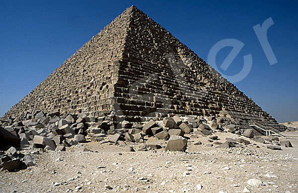 Mykerinos-Pyramide: Ecke, Bild-Nr. Grßansicht: 40a/2