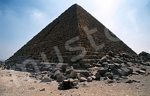 Mykerinos-Pyramide: Ecke, Bild-Nr. Grßansicht: 40a/5