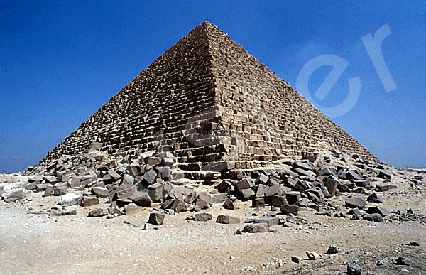 Mykerinos-Pyramide: Ecke, Bild-Nr. Grßansicht: 40a/8
