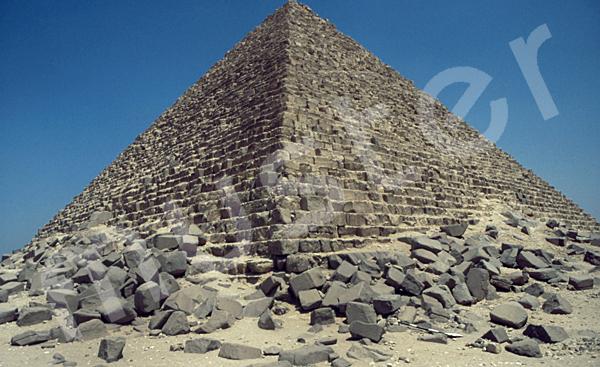 Mykerinos-Pyramide: Ecke, Bild-Nr. Grßansicht: 40a/9