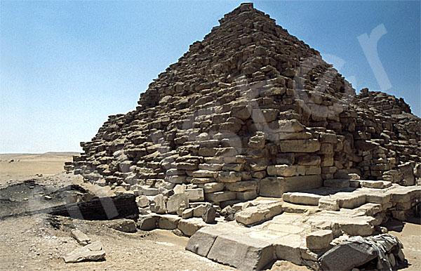 Mykerinos-Pyramide: Ecke, Bild-Nr. Grßansicht: 40b/32