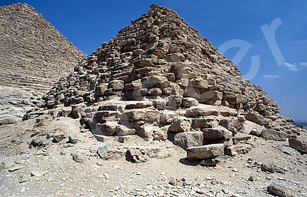 Mykerinos-Pyramide: Ecke, Bild-Nr. Grßansicht: 40b/39