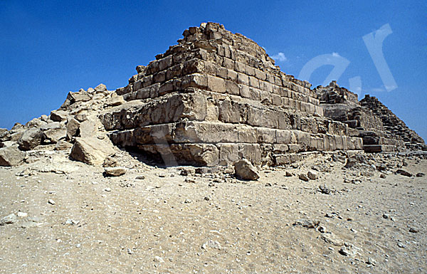 Mykerinos-Pyramide: Ecke, Bild-Nr. Grßansicht: 40b/44