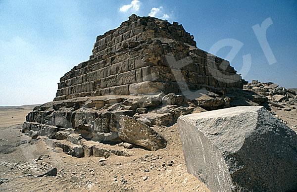 Mykerinos-Pyramide: Ecke, Bild-Nr. Grßansicht: 40b/49