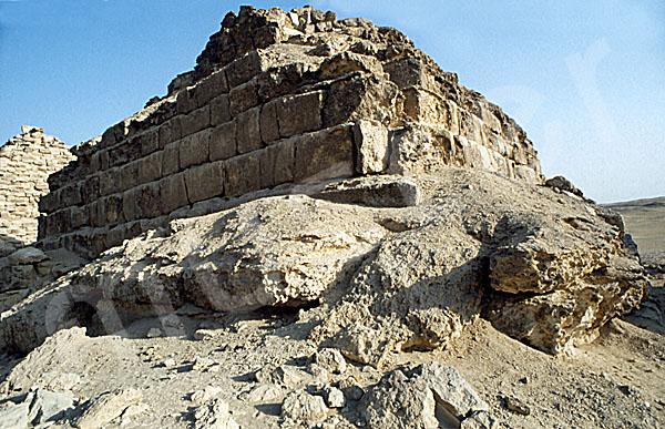 Mykerinos-Pyramide: Ecke, Bild-Nr. Grßansicht: 40b/50